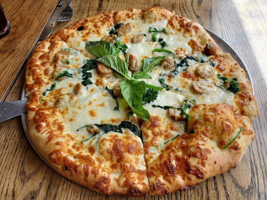 Roma Style Pizza White Pizza - Justino Pizza