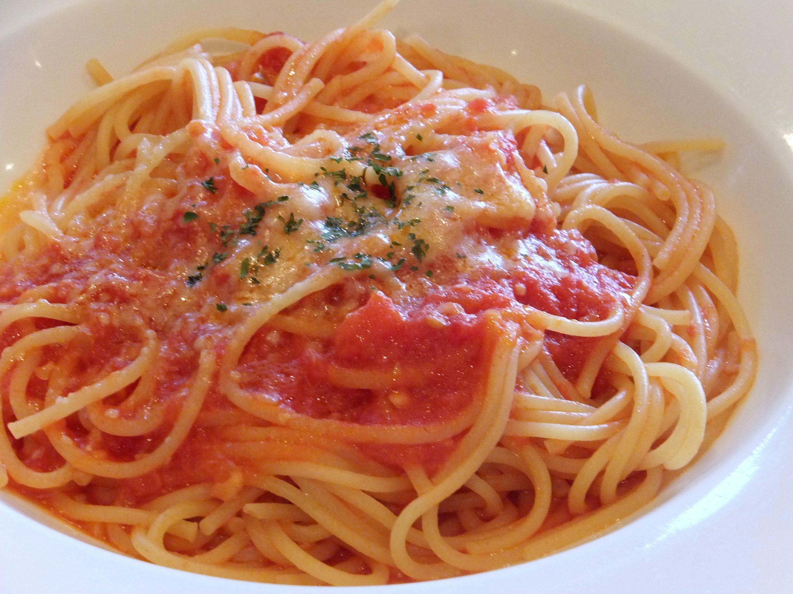 Kids Menu Spaghetti Tomato Sauce - Justino's Pizza
